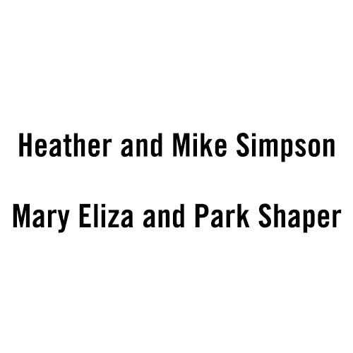 Heather and Mike Simpson / Mary Eliza and Park Shaper